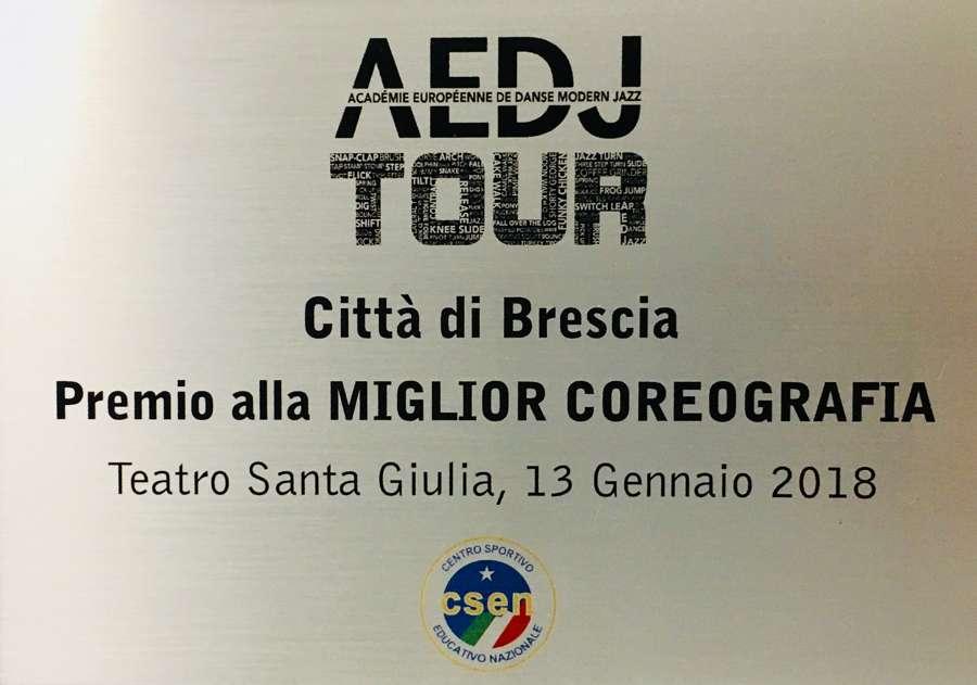 Premio Migliore Coreografia Rassegna Coreografica AEDJ TOUR Brescia 2018